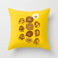 Bananaz Throw Pillow