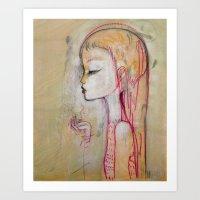 Tornado Lady Art Print
