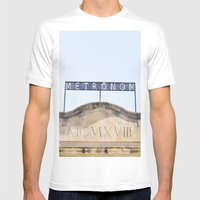 Metronom Mens Fitted Tee White SMALL