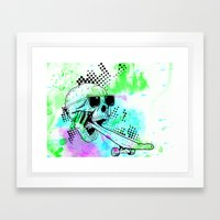 Skater Deadication Framed Art Print