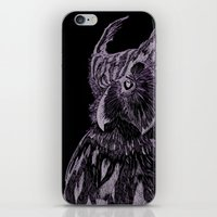 Inverted Horned Owl iPhone & iPod Skin