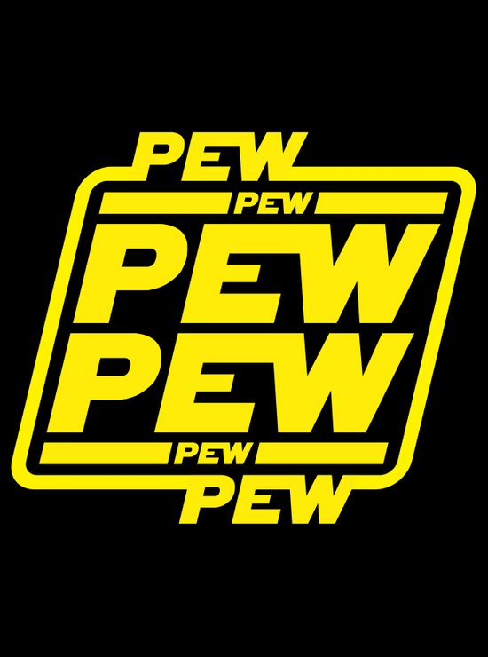 Pew Pew Pew Art Print