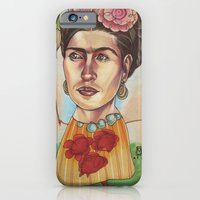 iPhone & iPod Case featuring FRIDA by busymockingbird
