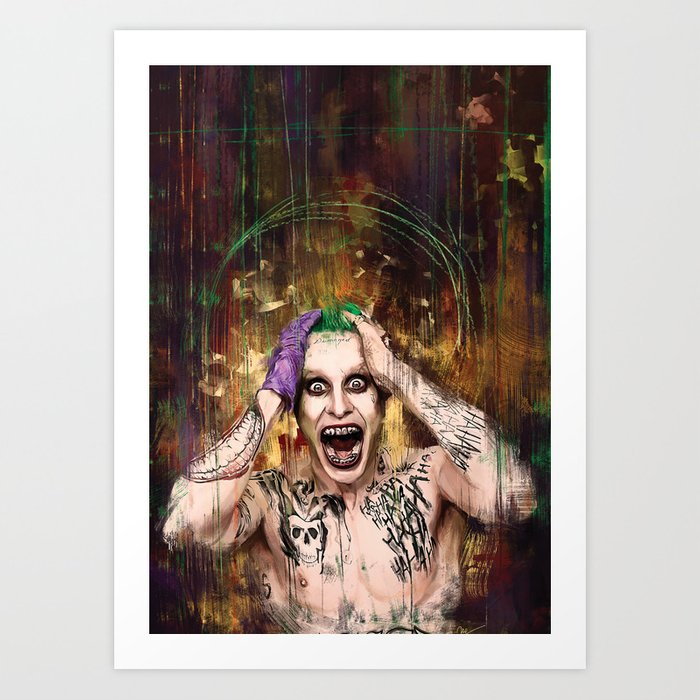 Suicide Squad The Joker Art Print