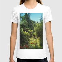 Heligan Gardens 1/4 Womens Fitted Tee White SMALL