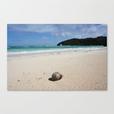 The Coconut Nut is a Giant Nut - beach view Canvas Print