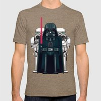 Darth Vader And Stormtro… Mens Fitted Tee Tri-Coffee SMALL