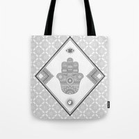 A Blessing (Glitter Grey) Tote Bag