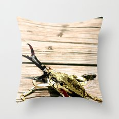 CrabWalk Throw Pillow