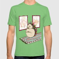 Hedgehog Artist Mens Fitted Tee Grass SMALL