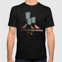 Three Little Birds Mens Fitted Tee Tri-Black SMALL