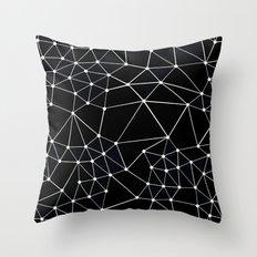 Seg Black Throw Pillow