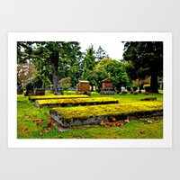 Scenic Cemetery Art Print