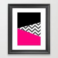 Color Blocked Chevron 8 Framed Art Print