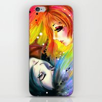 RAINBOW AND NIGHT iPhone & iPod Skin