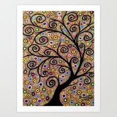 Abstract tree-11 Art Print