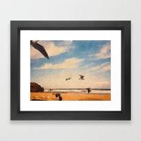 South Coast Framed Art Print