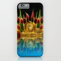 Lion And Flowers iPhone 6 Slim Case