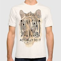 ANALOG: TONY, THE TIGER Mens Fitted Tee Natural SMALL