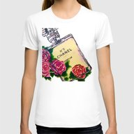 Lady Like Womens Fitted Tee White SMALL