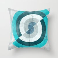 Blue Chaos Throw Pillow