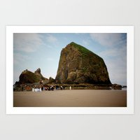 Canon Beach, Oregon Art Print