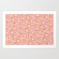 Wallflower - Coralette Art Print