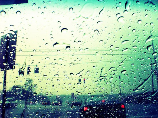 Waiting In Rain Art Print