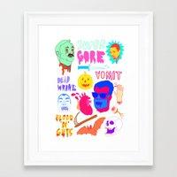 Super Gore Framed Art Print