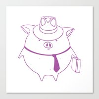 piggy 01 Canvas Print