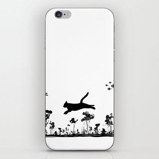 The Cat and Ink drop bombs iPhone & iPod Skin