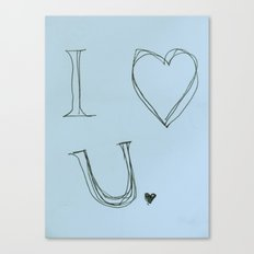 I Heart You, Baby Canvas Print