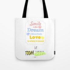 {ENG} SMILE · DREAM · LOVE Tote Bag