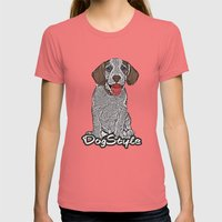 Dog Style Womens Fitted Tee Pomegranate SMALL