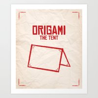 Origami: The Tent Art Print