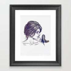 If Thou Must Love Me Framed Art Print