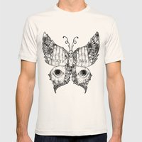 hate love butterfly Mens Fitted Tee Natural SMALL