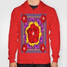 Puce Red Hibiscus Tropic… Hoody