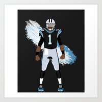 Keep Pounding - Cam Newton Art Print