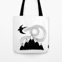 Mountain Swallow Tote Bag