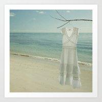 My White Dress. Art Print