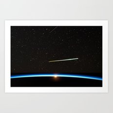 Chelyabinsk bolide moving at a speed of about 20 km/s. Art Print