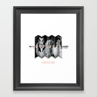 Forced Love Framed Art Print