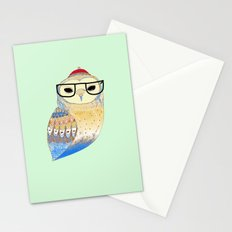 hipster owl Stationery Cards