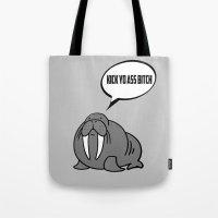 Angry Walrus Tote Bag