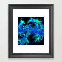 Blue Phoenix Framed Art Print