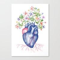 Strawberry Heart  Canvas Print