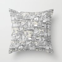 NOTTINGHAM CHAMPAGNE Throw Pillow