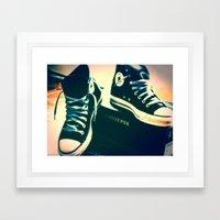 Converse Sneakers Framed Art Print