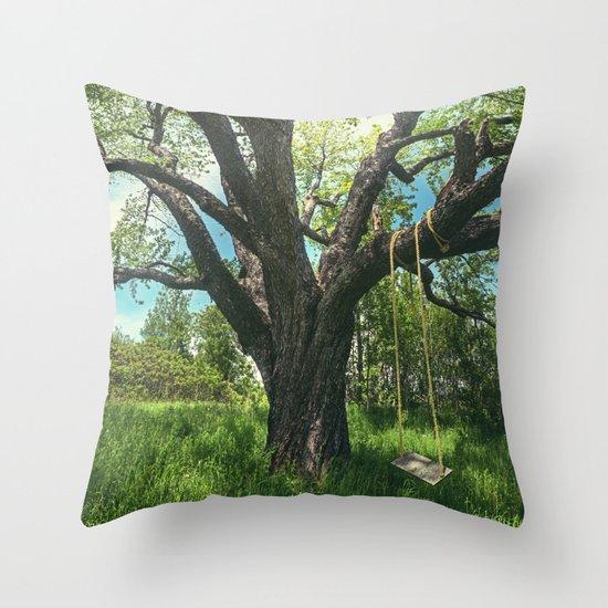 Swing the Summer Away Throw Pillow